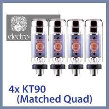 4x Electro Harmonix KT90 EH KT90EH Power Vacuum Tubes, Matched Quad TESTED