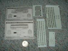 Accu-cals  decals HO 001-DF42f  Boston Maine 4200 F-7  F-3 7b   E50
