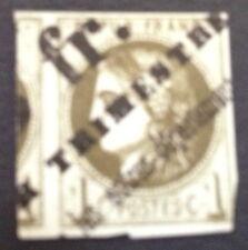 Timbre France, n°39, 1c vert journaux,  rare sur ce timbre Tb côté 275€