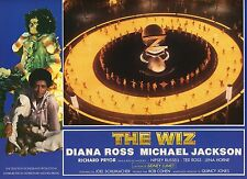 DIANA ROSS MICHAEL JACKSON THE WIZ 1970 VINTAGE PHOTO FRENCH LOBBY CARD N°3 MINT