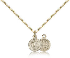 """Saint Benedict Medal For Women - Gold Filled Necklace On 18"""" Chain - 30 Day M..."""