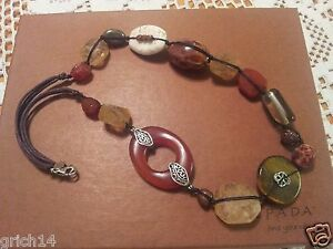 """Silpada Sterling Silver Tiger's Eye Agate Pyrite """"Heat Wave"""" Necklace N2419 New!"""