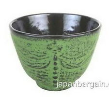 4x Japanese Cast Iron Teacup Dragonfly L-Green TB28-LG S-2121x4