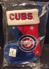 CHICAGO CUBS Christmas STOCKING Bean Bag WEIGHTED Bottom New MLB Team Beans