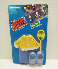 SNOOPY & BELLE TENNIS SPORT FASHION OUTFIT MOC MIP FOR KNICKERBOCKER DOLL FIGURE