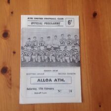 Ayr United V Alloa Athletic - Second Division - 17/2/1968