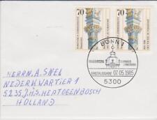 Germany BRD Bundespost 1985 MI 1251 paar auf brief / cover Erstausgabe-Stempel