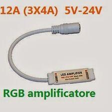AMPLIFICATORE DI SEGNALE PER STRISCIA LED RGB 3528 5050 12V 3x4A 12A 5V-24V