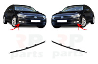 FOR VW PASSAT B8 2014 - 2018 FOR FRONT BUMPER LOWER BLACK MOLDING TRIM PAIR SET