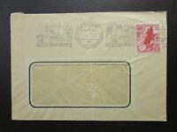 Germany 1939 Cover w/ Interesting Nurnberg Machine Cancel / Creased - Z6820