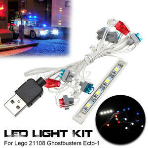 Kit di illuminazione a LED Per Lego 21108 Ghostbusters Ecto-1 USB Porta Lighting