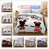 3D Lover Mickey Minnie Doona Duvet Cover Queen Cartoon Quilt Cover PillowCase