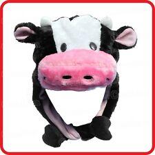 COW ANIMAL CARTOON PLUSH FLUFFY HOODED HAT CAP BEANIE EARMUFF-COSTUME-DRESS UP 2