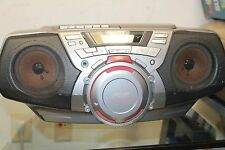 Sony CFD-G30 Stereo Boombox Ghetto Blaster CD Cassette AM/FM Radio w Aux Input