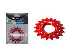 Piñon Fijo de Bicicleta Fixie Ruder Berna 16T Aluminio Rojo Mecanizado CNC 3611