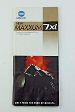 189792 Minolta Maxxum 7xi Product Brochure Genuine Original