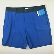 "Columbia Mens 38"" W 8"" Ins Blue Navy Lakedale Cove Omni Shield Casual Shorts $60"