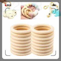 Crafts Connectors Teething Wooden Natural 10PCS  Circles Wood 15-70MM DIY Rings