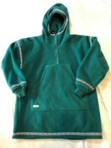Wintergreen Ely MN Expedition Fleece Anorak Jacket Mens M Womens L, Green Unisex