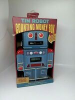 Vintage Tin Robot Counting Money Box Digital Display. Boxed. Rare!!!