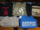 Five Slightly Damaged TV/Movie T-Shirts! Dr. Who Office Boondock Saints Rocky