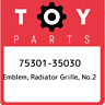 75301-35030 Toyota Emblem, radiator grille, no.2 7530135030, New Genuine OEM Par