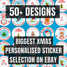 PERSONALISED Christmas Stickers / Merry Christmas Labels Gift Tags (48 Per Pack)
