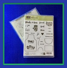 Stampin' Up! APRON OF LOVE  Stamps & APRON BUILDER Framelits Dies ***NEW*** #2