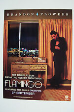BRANDON FLOWERS - Flamingo - 2010 Magazine Advertisment Poster