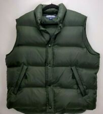Structure Mens XL Down Puffer Vest Jacket Olive Green Insulated Snap Pocket Zip