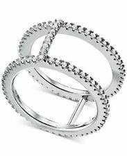 Michael Kors Women's Custom Sterling Silver X Pavé Nesting Gold Ring 8
