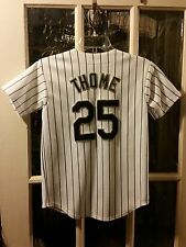 Jim Thome Chicago White Sox SEWN Jersey #25 Youth M Spring Training Opening Day