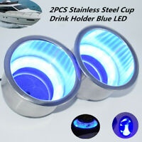 Boat RV Stainless Steel Drink Holder with LED Illuminated Ring Stepped Bottom