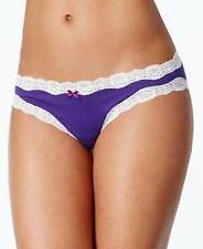 Jenni by Jennifer Moore Cotton Lace Trim Bikini Purple XL