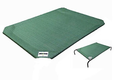 Coolaroo Elevated Dog Bed Replacement Cover Large Green Breathable Mesh Cot New