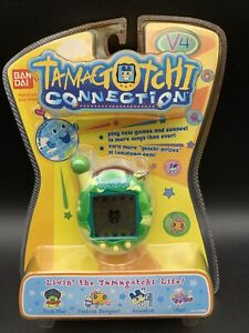 Tamagotchi Connection V4 Green and Yellow New, Factory Sealed RARE