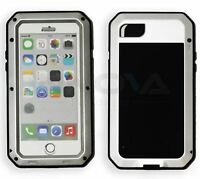 Heavy Duty Tough Armored Shockproof Metal Hybrid Anti Shock Proof Case iPhone