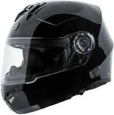 Black TORC TB-27 Bluetooth Modular Flip Up Motorcycle Helmet