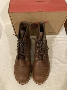 """Red Wing 8111 Heritage 6"""" Iron Ranger Men's 10.5EE Amber Harness Factory First"""