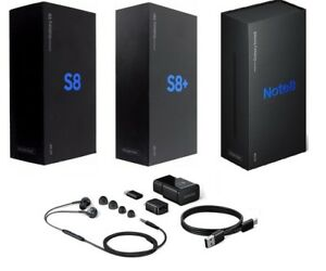 New Samsung Galaxy S8/S9+ Note8/9 Retail Box with OEM US EU UK AU Accessories