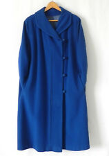 Vtg Windermere New York Coat Royal Blue Cashmere Pockets Size 2XL