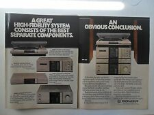1982 Print Ad Pioneer Electronics High-Fidelity Stereo System ~ A Conclusion