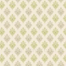 Miniatura Per Casa Delle Bambole Verde Salvia Araldico A Rombi Carta Da Parati