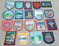 Vintage Cloth Patch Badges Collection of 19 British Patch Badges
