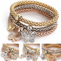 6 Style New Women's  Rose Gold Plated Crystal Bracelet Bangle Trendy Jewelry