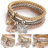 New Women's 6 Style Rose Gold Plated Crystal Bracelet Bangle Trendy Jewelry