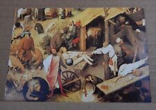 "Postcard Art Pieter Bruegel "" The Proverbs Detail 1559 "" unposted"