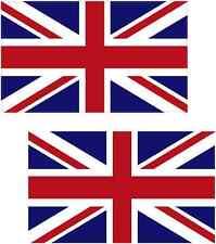 "2 - 3""x1.5"" Great Britain union jack UK British vinyl sticker united kingdom"