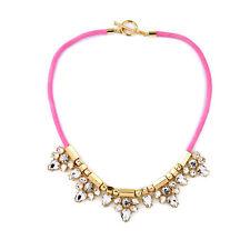 NEW * Adorable Anthropologie Panni White Rhinestone Drop Pink Wrap Necklace