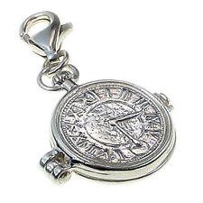 British Sterling 925 Silver Pocket Watch Charm Clip On Fit, Alice Wonderland